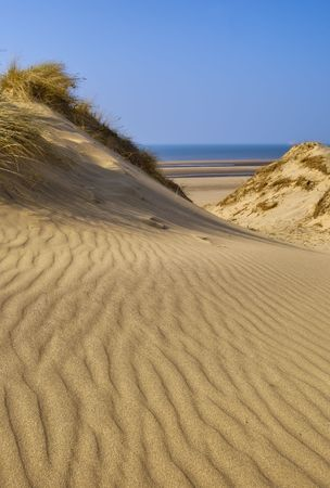 Sand dunes of Formby near Liverpool on the North West Coast of England.