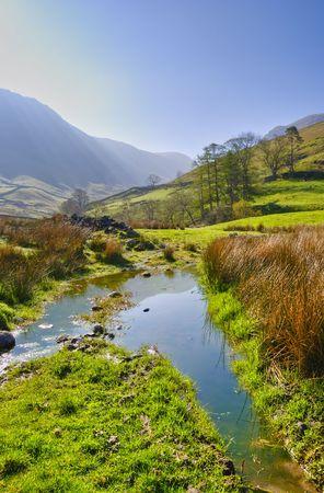 Pionowe krajobraz widok rano w pobliżu Hartsop w angielskiej Lake District National Park, Cumbria, Anglia, Wielka Brytania.