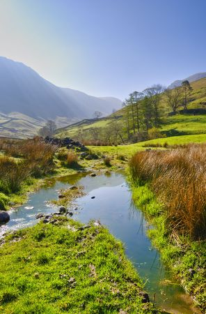 Vertical landscape morning view near Hartsop in the English Lake District National Park, Cumbria, England, United Kingdom. Stock Photo - 4930814