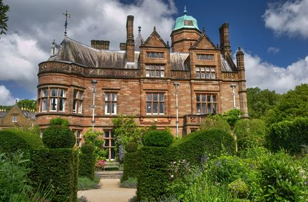 Exterior of English stately home with landscape gardens. Stock Photo - 5367258