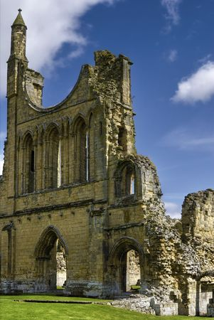 Exterior view of ruins of Byland Cistercian Abbey, Ryedale, North Yorkshire, England Stock Photo - 5469920
