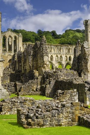 Scenic view of Rievaulx Abbey, North Yorkshire Moors, National Park, England. Stock Photo - 5529195