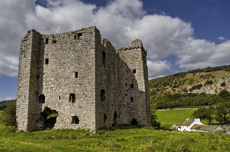 Scenic view of Arnside village Peel tower, Cumbria, England. Stock Photo - 5991802