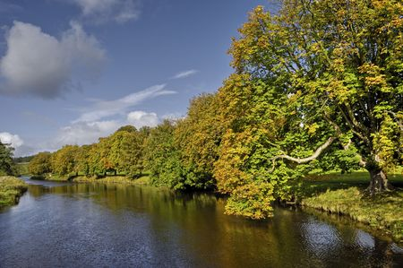 Scenic view of river Wharfe, Yorkshire Dales National Park, England Stock Photo - 6006436