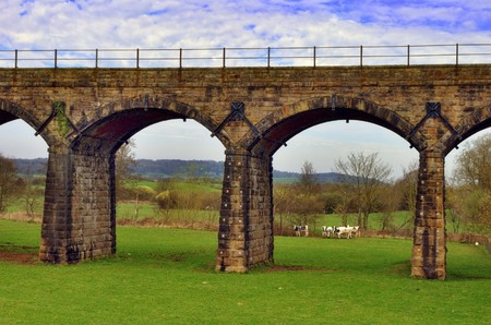 Scenic view of Victorian railway viaduct in English countryside. Stock Photo - 7029259