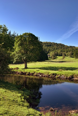 langdale: River Brathay at Elterwater in the English Lake District