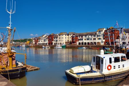 A view across the harbour at maryport, Cumbria, England.