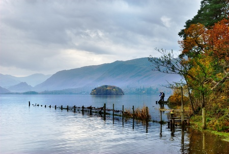 crag: Autumn colours at Derwentwater looking South from Friars Crag