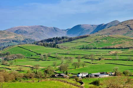 A view towards Thornthwaite Beacon & Stony Cove Pike from Orrest Head Stock Photo