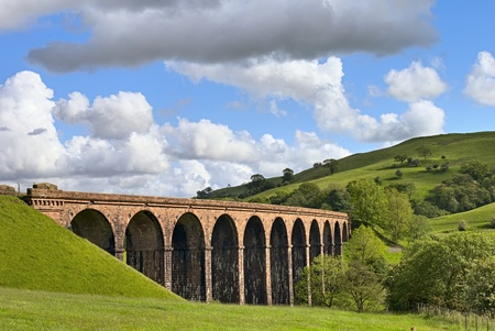 A view of lowgill viaduct, on the Dales Way, Cumbria, England photo