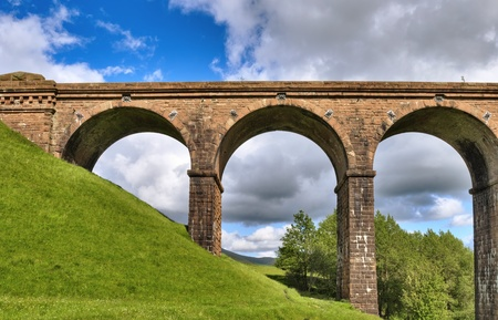 A view of lowgill viaduct, on the Dales Way, Cumbria, England