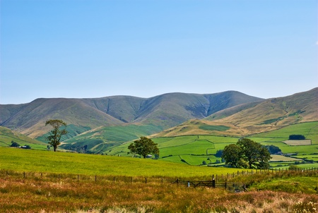 fells: A rural view of the Howgill Fells in Cumbria, England Stock Photo