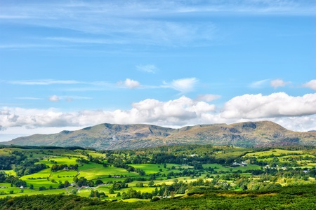A view of the Coniston Fells from the slopes of Latterbarrow  in the English Lake District National Park. photo