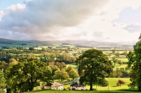 british weather: English countryside in Autumn. Near Kirkby Lonsdale, Cumbria