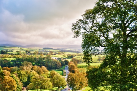 lonsdale: English countryside in Autumn. Near Kirkby Lonsdale, Cumbria