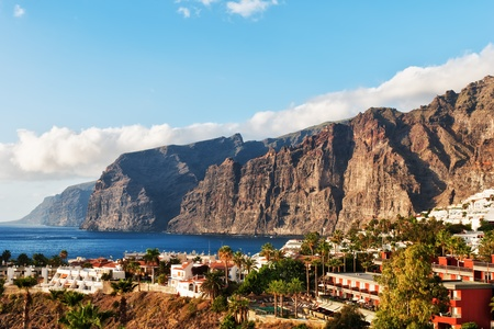 Los Gigantes, a popular holiday destination Tenerife, in the Spanish Canary Islands Stock Photo