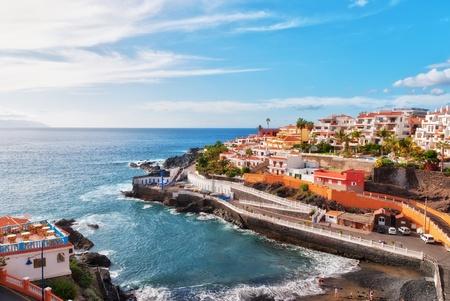 """Puerto Santiago, Tenerife, w hiszpaÅ""""skich Wyspach Kanaryjskich Zdjęcie Seryjne"""