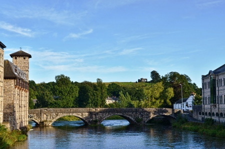 A view of Stramongate Bridge in Kendal, Cumbria, England Stock Photo - 14964496