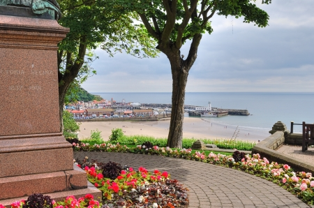 ViewLooking down on Scarborough Marina from ornamental gardens  Stock Photo - 14964509