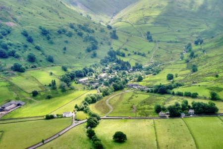 An aerial view of Hartsop, a small picturesque village in the English Lake District Stock Photo - 15256365
