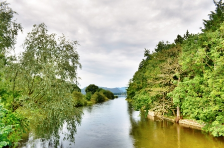 A view of the head of Ullswater from Pooley Bridge Stock Photo - 15656419