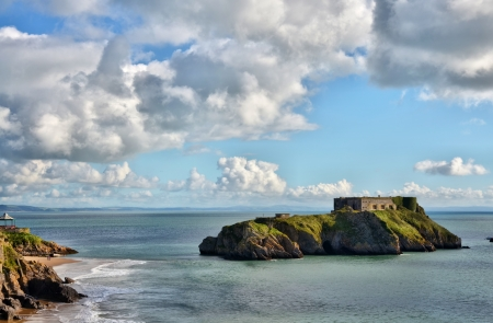 tenby wales: A view of St Catherine Stock Photo