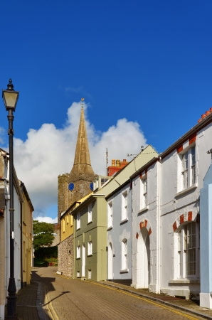 tenby wales: A view of 15th century St Mary