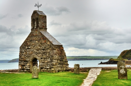 Picturesque ruins of St Brynach Stock Photo - 16720548