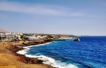 Scenic view of Puerto Calero on island of Lanzarote, Canary Islands, Spain  Stock Photo - 18925074