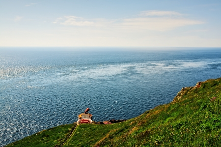 View of a Fog Horn overlooking the sea on the Mull of Galloway, South West Scotland Stock Photo - 20884909