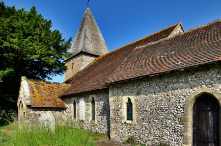 St Peters, a historic 12th century church in the village of Rodmell, West Sussex Stock Photo - 22028247