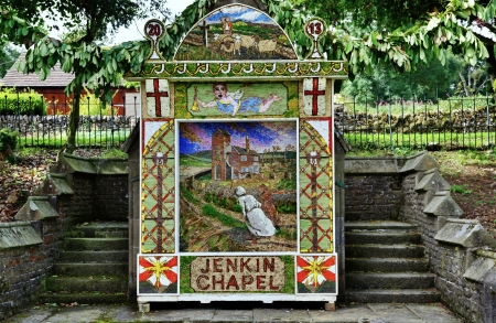 Well dressing at Jenkin Chapel, Derbyshire, England, an ancient traditional English custom Stock Photo - 23086300