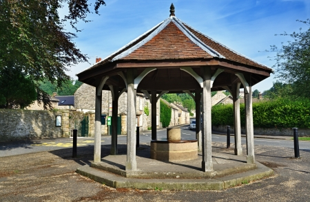 bandstand: View of the bandstand at Ashford-In-The-Water in Derbyshire,England