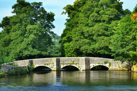 Sheepwash Bridge over the River Wye at Ashford-In-The-Water in Derbyshire,England Stock Photo - 23086308