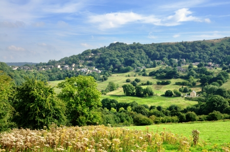 View of rural countryside near Matlock Bath in Derbyshire, England Stock Photo - 23859744