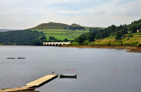 View of Ladybower Reservoir in Derbyshire, England Stock Photo - 23860103