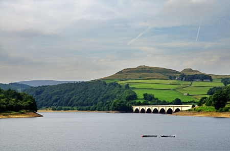Looking across Ladybower Reservoir in Derbyshire, England Stock Photo - 23860483
