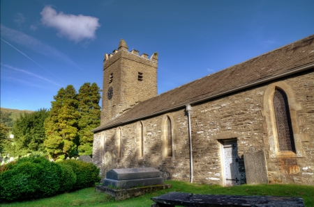 View of Troutbeck Church in the English Lake District on a sunny day Stock Photo - 24540270