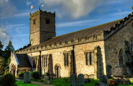 lonsdale: Church of St Mary the Virgin in Kirkby Lonsdale, dating back to Norman times Stock Photo