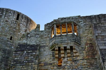 richard: Sunlit window in a wall of Barnard Castle,former property of King Richard III, County Durham,England Stock Photo
