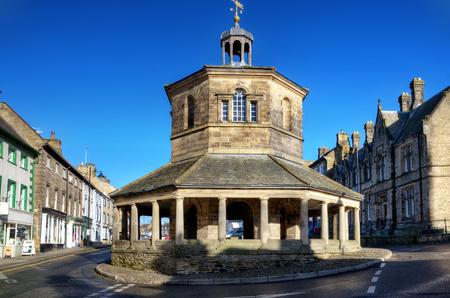 Market Cross w Barnard Castle zbudowany w 1747 roku, znany jako rynku masła Zdjęcie Seryjne
