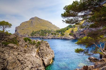 sa: A view from the Sa Calobra on Majorca.