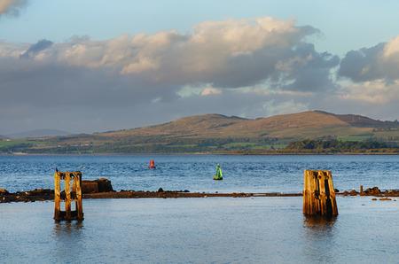 A view over the river Clyde at Gourock, Inverclyde, Scotland. Stock Photo
