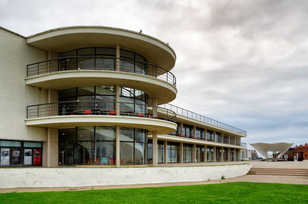 Exterior of the De La Warr Pavilion in Bexhill, East Sussex.