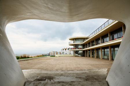 The de la Warr Pavilion at Bexhill on Sea is a modernist grade 1 listed building built in 1935 open to the public and used as an art gallery, restaurant and reading room and has sea views.