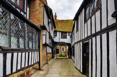 tudor: Early Tudor or late medieval building in Rye, East Sussex, England Stock Photo