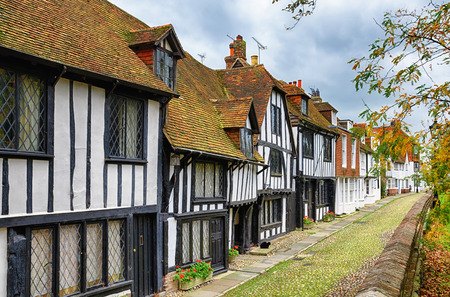 Early Tudor or late medieval building in Rye, East Sussex, England 免版税图像