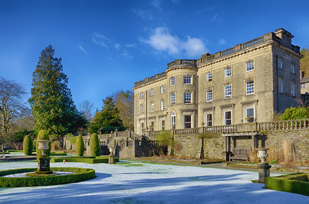 Rydal Hall on a frosty morning. Rydal Hall is a well known Christian retreat in the English Lake District.