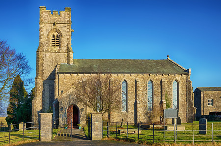 St John the Evangelists Church, in the English Cumrian village of Grayrigg. Stock Photo
