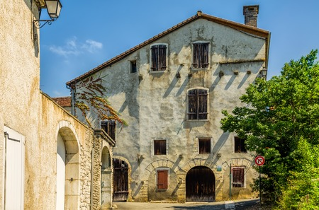 The old armoury, or arsenal in Sauveterre-de-Bearn, Pyrenees-Atlantiques, South West France. Stock Photo